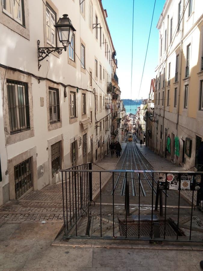 Άποψη της οδού της Λισσαβώνας στοκ φωτογραφία με δικαίωμα ελεύθερης χρήσης