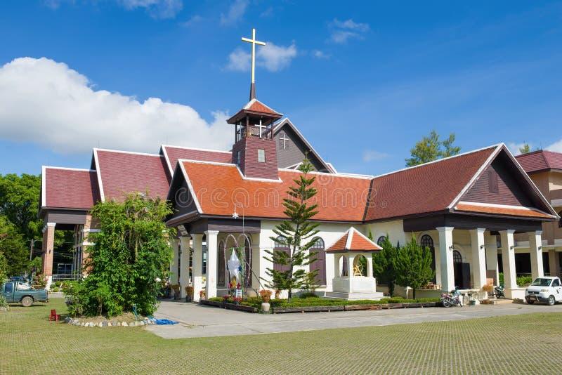 Άποψη της οικοδόμησης της πρώτης χριστιανικής εκκλησίας 1914, Chiang Rai στοκ φωτογραφίες με δικαίωμα ελεύθερης χρήσης