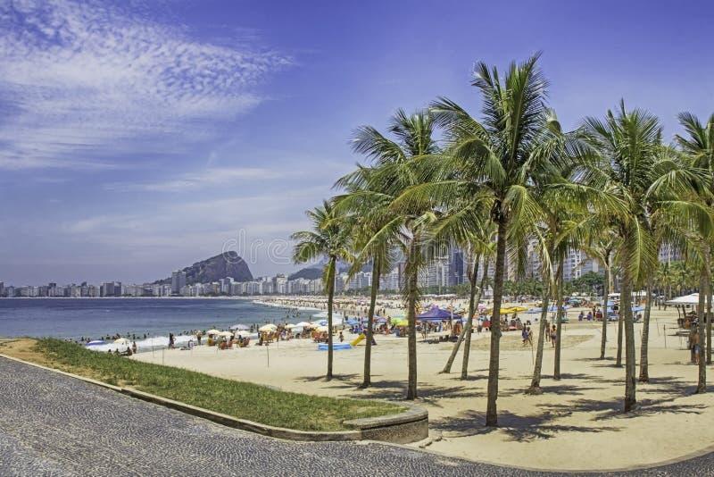 Άποψη της παραλίας Copacabana από Leme στο Ρίο ντε Τζανέιρο στοκ φωτογραφία με δικαίωμα ελεύθερης χρήσης