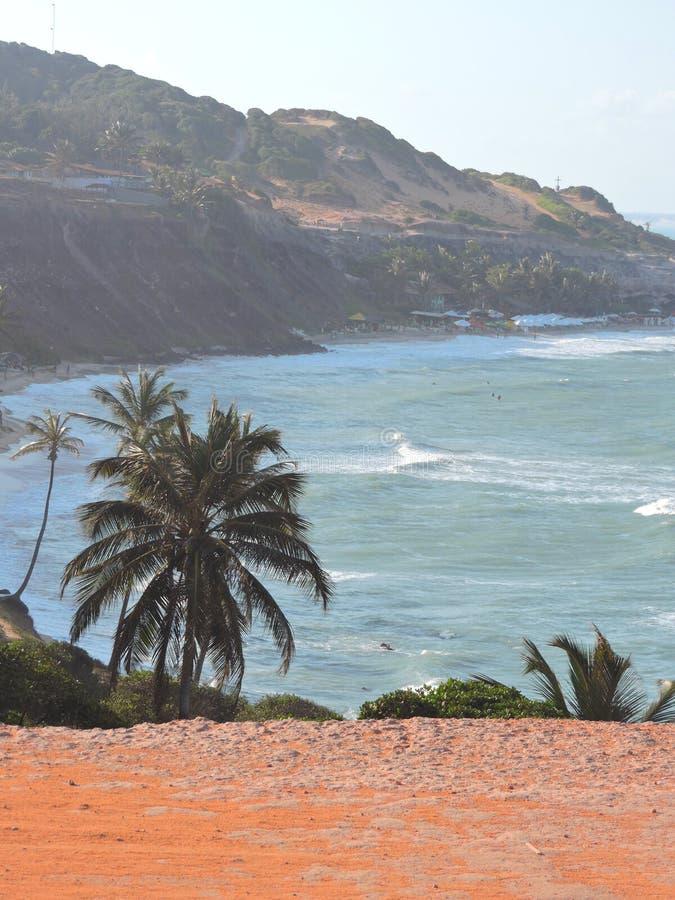 Άποψη της παραλίας αγάπης - Pipa - RN στοκ φωτογραφίες με δικαίωμα ελεύθερης χρήσης