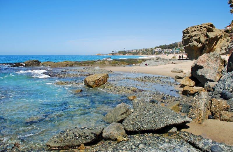 Άποψη της παραλίας Aliso, Λαγκούνα Μπιτς, Καλιφόρνια στοκ φωτογραφία με δικαίωμα ελεύθερης χρήσης