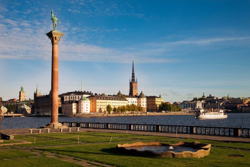 Άποψη της παλαιάς πόλης Gamla Stan της Στοκχόλμης, Σουηδία στοκ εικόνα με δικαίωμα ελεύθερης χρήσης