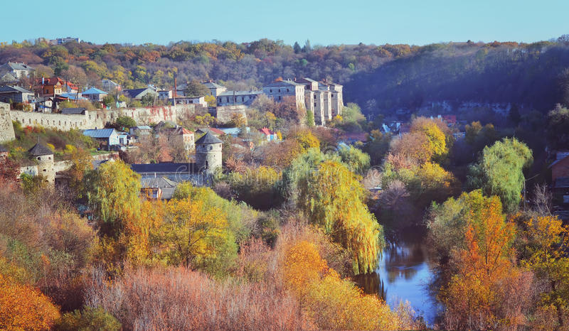 Άποψη της παλαιάς πόλης kamenetz-Podolsk Ουκρανία στοκ φωτογραφία με δικαίωμα ελεύθερης χρήσης