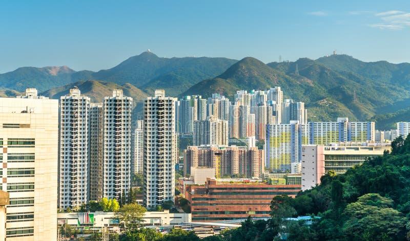 Άποψη της περιοχής κασσίτερου της Sha στο Χονγκ Κονγκ, Κίνα στοκ εικόνες