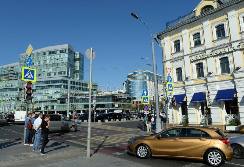 Άποψη της πλατείας Trubnaya της Μόσχας από την οδό Neglinnaya στοκ φωτογραφία με δικαίωμα ελεύθερης χρήσης