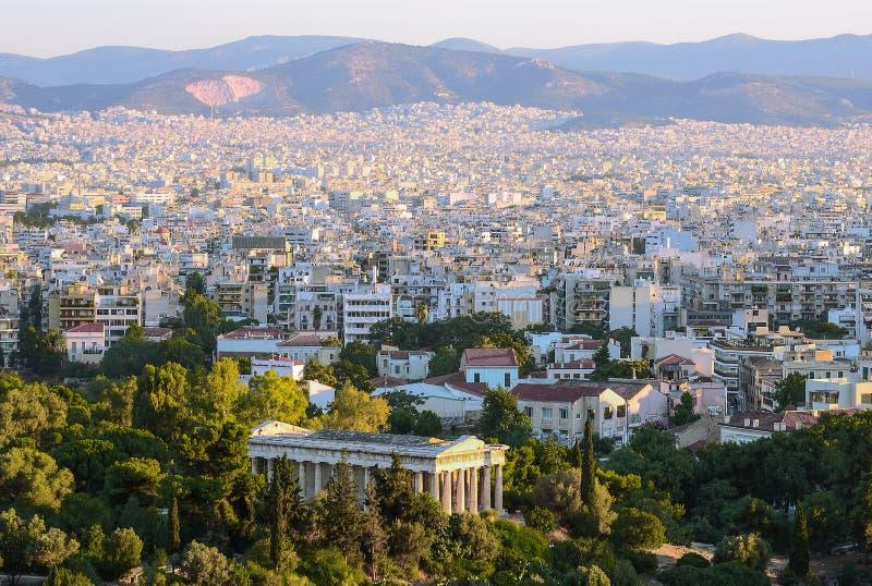 Άποψη της πρωτεύουσας της Ελλάδας στοκ φωτογραφία