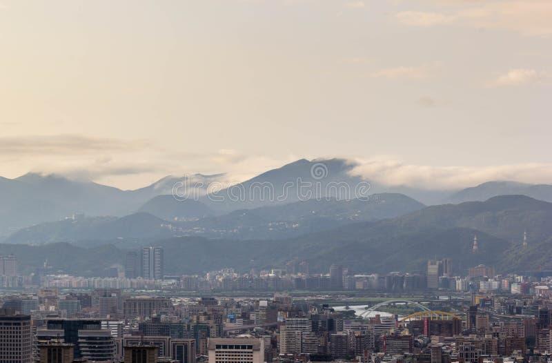 Άποψη της πόλης της Ταϊπέι στοκ εικόνες