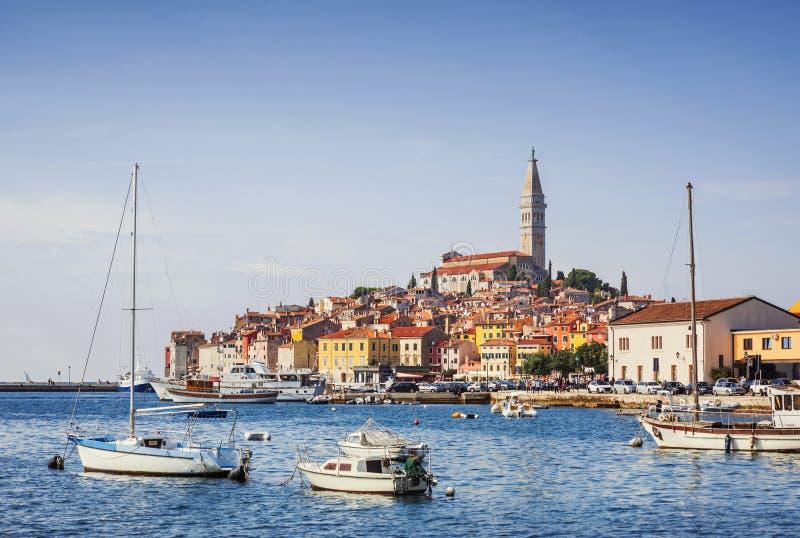Άποψη της πόλης Rovinj Rovigno, Istria, Κροατία στοκ φωτογραφίες