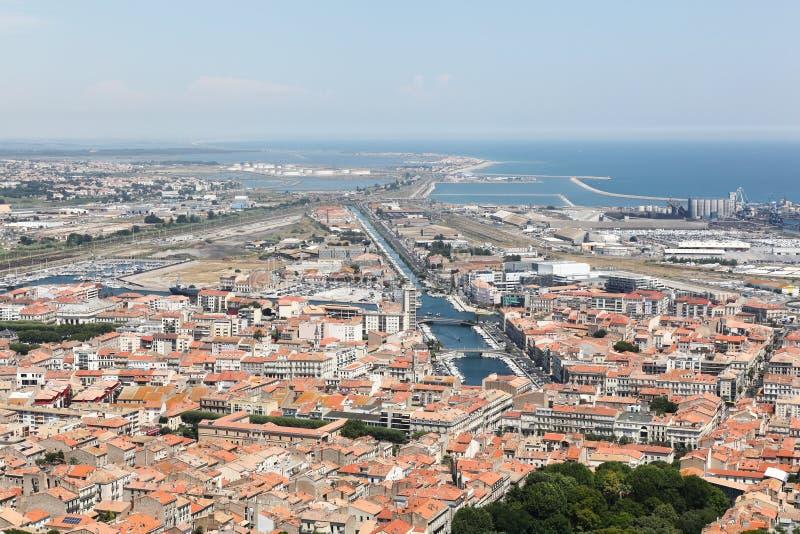 Άποψη της πόλης Sete στη Γαλλία στοκ φωτογραφία με δικαίωμα ελεύθερης χρήσης