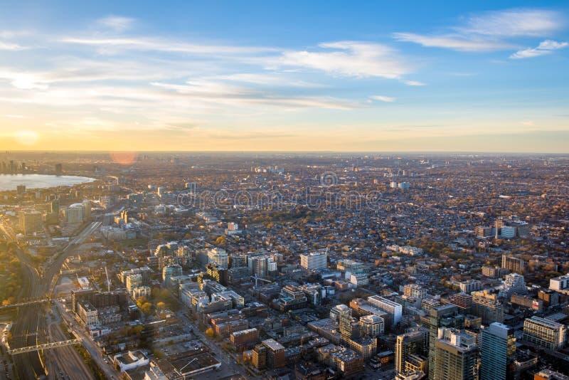 Άποψη της πόλης του Τορόντου άνωθεν - Τορόντο, Οντάριο, Καναδάς στοκ εικόνες με δικαίωμα ελεύθερης χρήσης