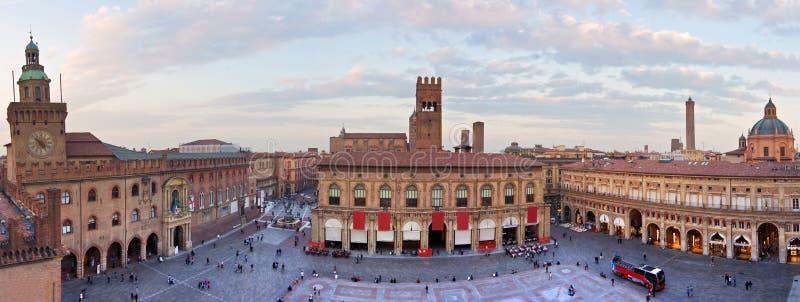 Άποψη της πλατείας maggiore - Μπολόνια στοκ φωτογραφίες με δικαίωμα ελεύθερης χρήσης