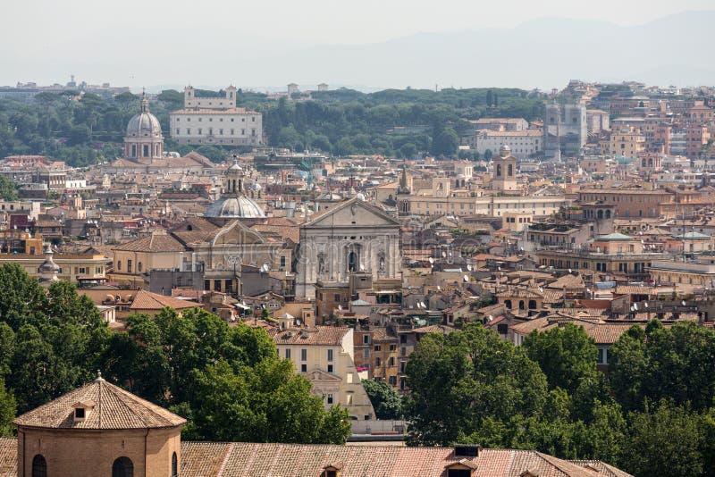 Άποψη της Ρώμης από το Hill Janiculum, στοκ εικόνα