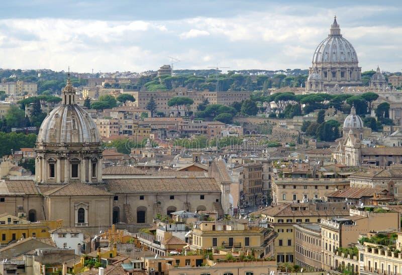 Άποψη της Ρώμης και του Βατικάνου στοκ εικόνα