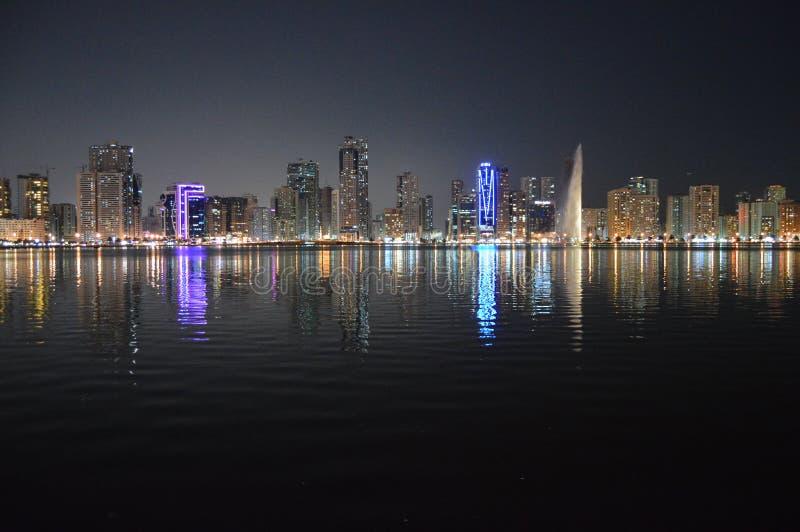 Άποψη της Σάρτζας Chornich τη νύχτα στοκ εικόνα με δικαίωμα ελεύθερης χρήσης