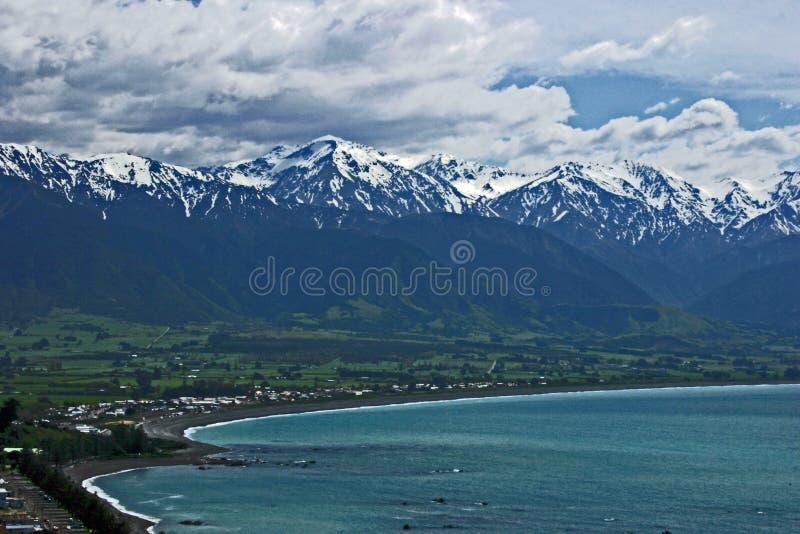 Άποψη της σειράς Kaikoura από την άποψη Kean σημείου, νότιο νησί, Νέα Ζηλανδία στοκ εικόνες με δικαίωμα ελεύθερης χρήσης