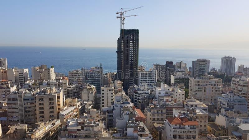 Άποψη της στο κέντρο της πόλης Βηρυττού Βηρυττός, Λίβανος στοκ εικόνα με δικαίωμα ελεύθερης χρήσης
