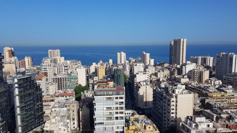 Άποψη της στο κέντρο της πόλης Βηρυττού Βηρυττός, Λίβανος στοκ φωτογραφίες με δικαίωμα ελεύθερης χρήσης