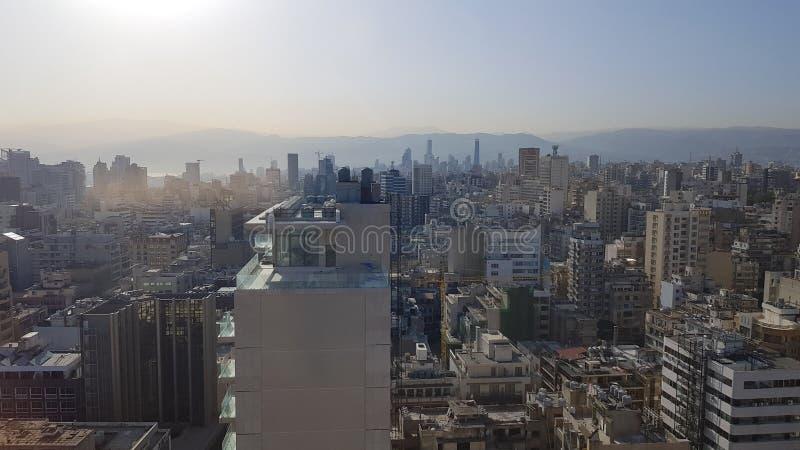 Άποψη της στο κέντρο της πόλης Βηρυττού Βηρυττός, Λίβανος στοκ φωτογραφία με δικαίωμα ελεύθερης χρήσης