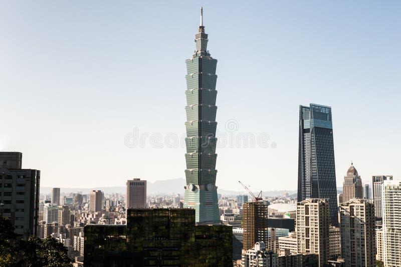 Άποψη της Ταϊπέι 101 κτήριο World Trade Center στοκ φωτογραφία με δικαίωμα ελεύθερης χρήσης