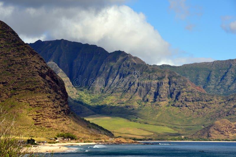 Άποψη της της Χαβάης ακτής στοκ φωτογραφία με δικαίωμα ελεύθερης χρήσης