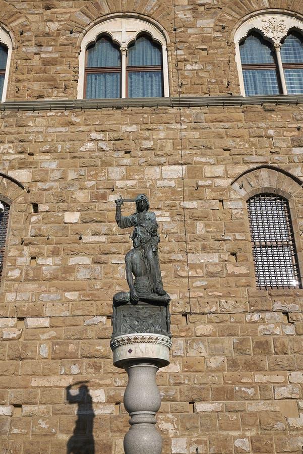 Άποψη της Judith και του αγάλματος Holofernes στοκ εικόνες με δικαίωμα ελεύθερης χρήσης