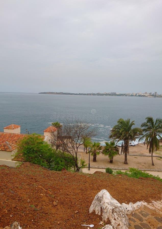 Άποψη τοπίων από το νησί Goree στη Σενεγάλη στοκ εικόνα με δικαίωμα ελεύθερης χρήσης