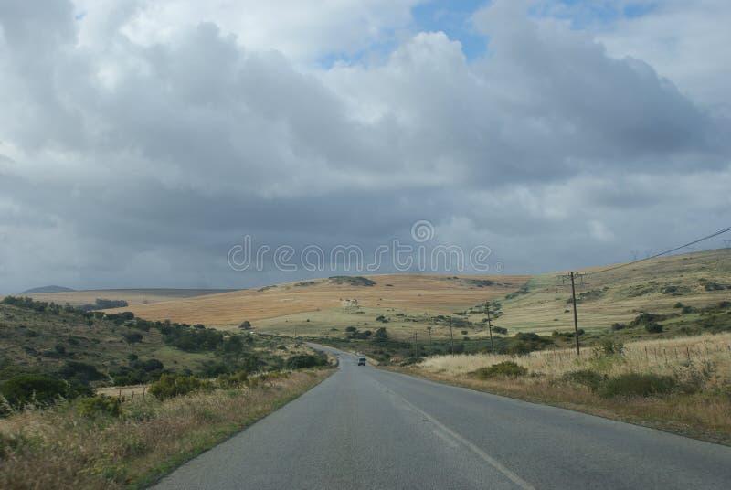 Άποψη τοπίων από το δρόμο στοκ φωτογραφίες με δικαίωμα ελεύθερης χρήσης