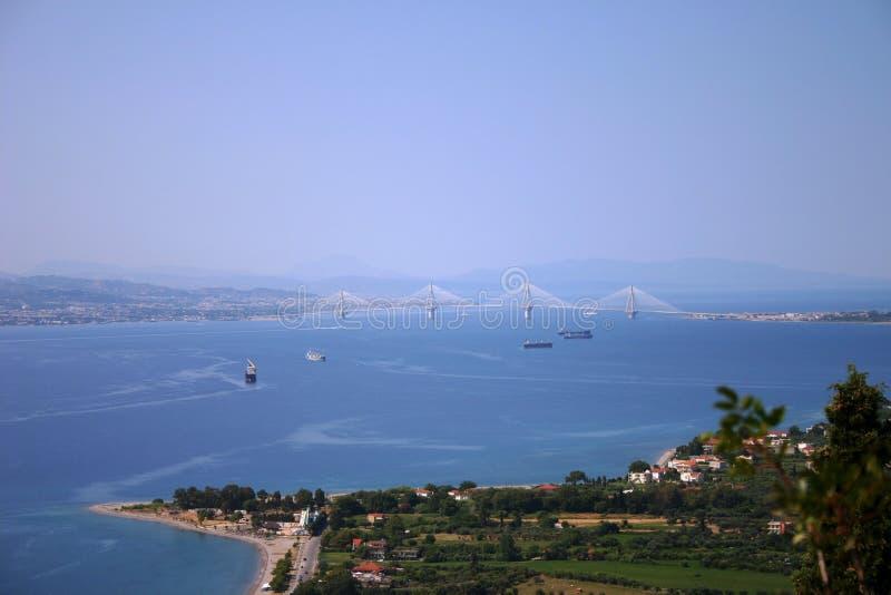 Άποψη τοπίων ενός κόλπου στη Μεσόγειο στοκ εικόνα με δικαίωμα ελεύθερης χρήσης