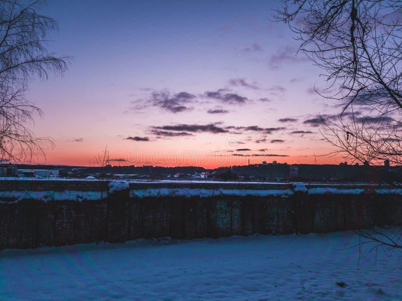 Άποψη τοπίων σε Vilnius στοκ εικόνες