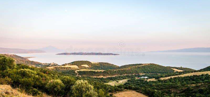Άποψη τοπίων στο Athos στοκ φωτογραφίες με δικαίωμα ελεύθερης χρήσης