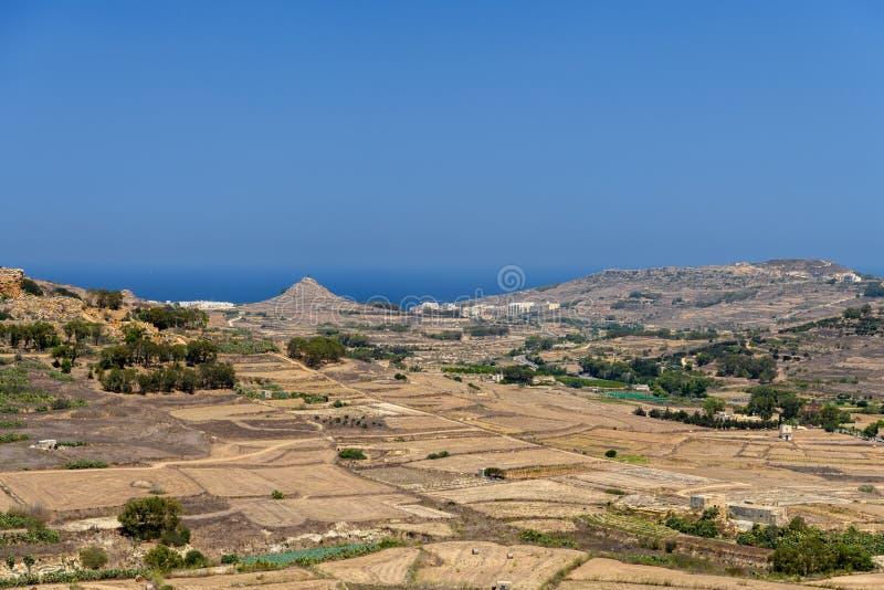 Άποψη τοπίων σχετικά με το νησί Gozo, Μάλτα στοκ φωτογραφία με δικαίωμα ελεύθερης χρήσης
