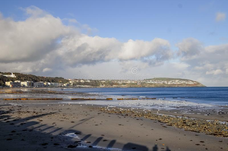 Άποψη τοπίων της παραλίας και της ακτής στο Isle of Man στοκ εικόνες με δικαίωμα ελεύθερης χρήσης
