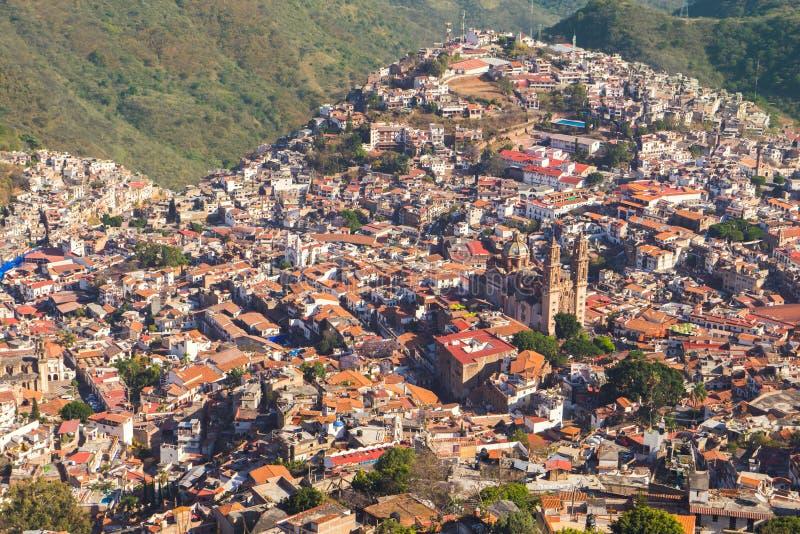 Άποψη τοπίων της πόλης του Μεξικού, Taxco de Alarcon στοκ εικόνες