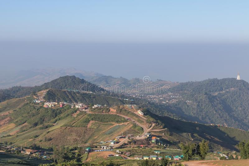 Άποψη τοπίων Phu Thap Boek στην επαρχία Phetchabun, Ταϊλάνδη στοκ φωτογραφίες
