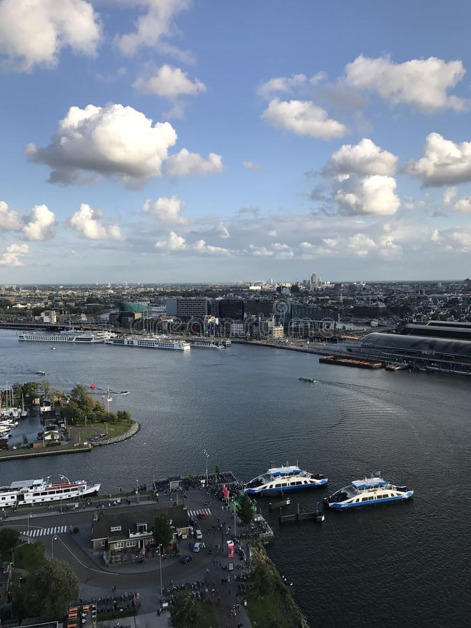 Άποψη του Άμστερνταμ από τον πύργο του Adam στοκ εικόνες με δικαίωμα ελεύθερης χρήσης