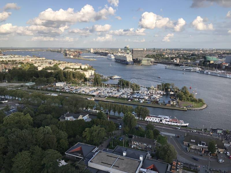 Άποψη του Άμστερνταμ από τον πύργο του Adam στοκ εικόνες