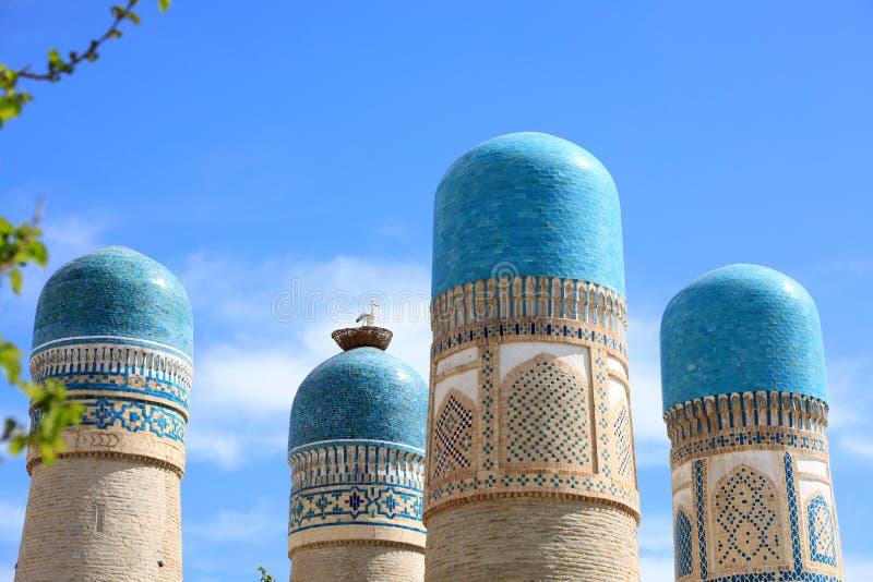 Άποψη του ανηλίκου Chor - ένα ιστορικό μουσουλμανικό τέμενος στη Μπουχάρα στοκ φωτογραφίες