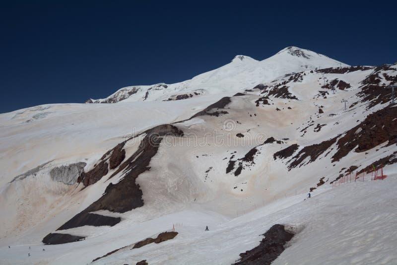 Άποψη του βουνού Elbrus Ρωσία στοκ φωτογραφίες