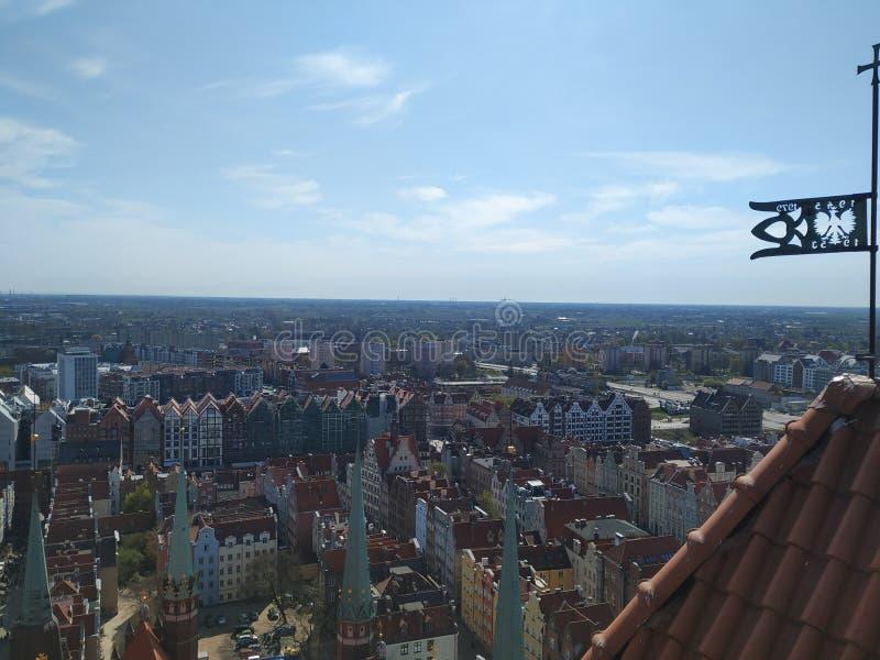 Άποψη του Γντανσκ από τον πύργο στοκ εικόνες με δικαίωμα ελεύθερης χρήσης