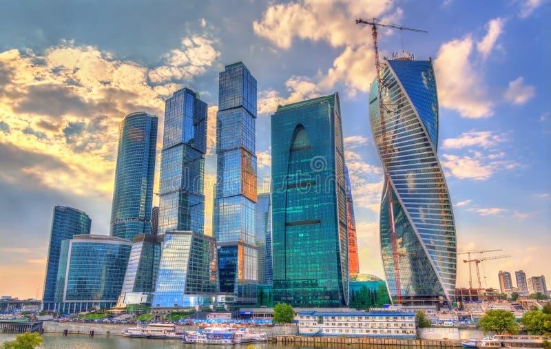 Άποψη του διεθνούς επιχειρησιακού κέντρου της Μόσχας γνωστού επίσης ως Μόσχα-πόλη Ρωσία στοκ φωτογραφίες με δικαίωμα ελεύθερης χρήσης