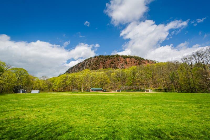 Άποψη του δυτικού βράχου, στο Νιού Χάβεν, Κοννέκτικατ στοκ φωτογραφίες