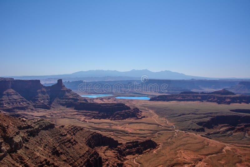 Άποψη του εθνικού πάρκου Canyonlands, Moab Γιούτα ΗΠΑ στοκ φωτογραφία με δικαίωμα ελεύθερης χρήσης