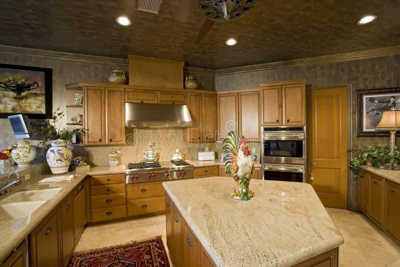 Άποψη του εσωτερικού κουζινών στοκ φωτογραφία με δικαίωμα ελεύθερης χρήσης