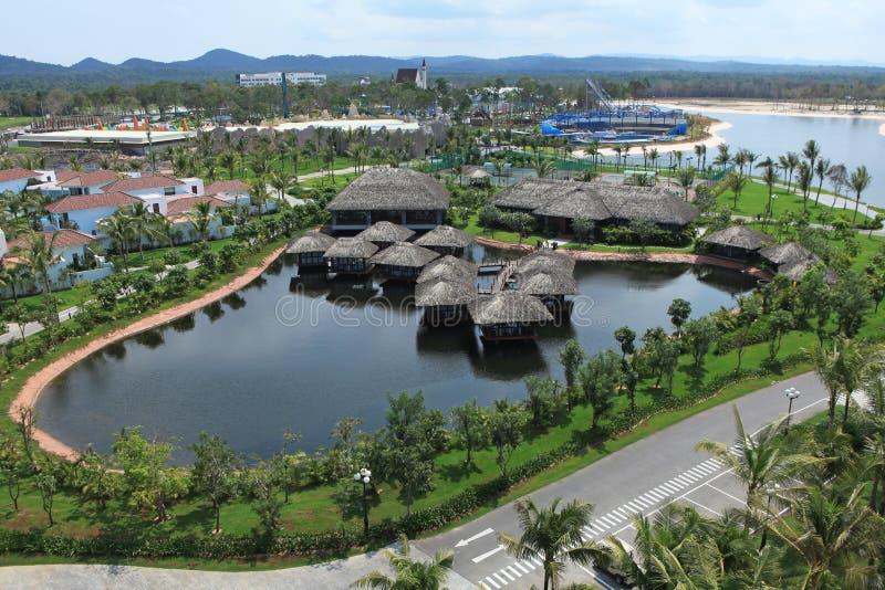 Άποψη του θερέτρου Vinpearl Phu Quoc, ένα πρόγραμμα από Vingroup την εταιρία, στο νησί Phu Quoc στοκ φωτογραφίες