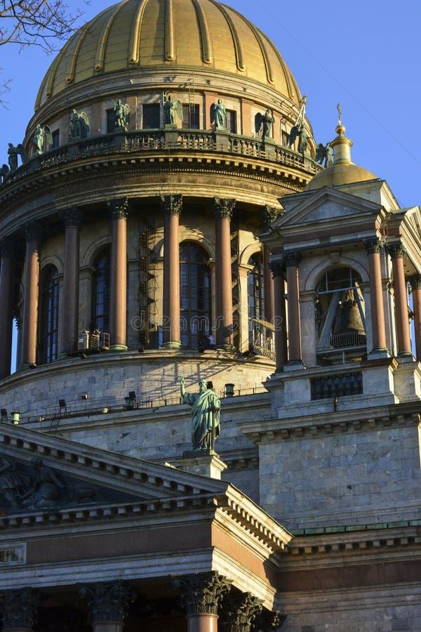 Άποψη του θόλου του καθεδρικού ναού του ST Isaac ` s Άγιος-Πετρούπολη στοκ φωτογραφίες με δικαίωμα ελεύθερης χρήσης