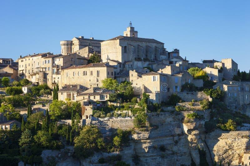 Άποψη του διάσημου μεσαιωνικού χωριού Gordes στοκ εικόνες με δικαίωμα ελεύθερης χρήσης