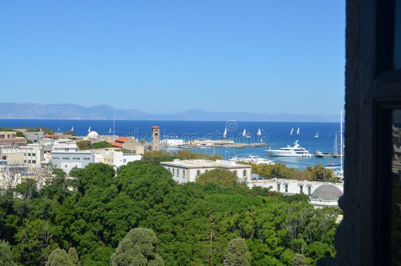 Άποψη του λιμανιού της Ρόδου Ελλάδα στοκ φωτογραφία με δικαίωμα ελεύθερης χρήσης