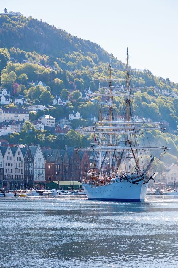 Άποψη του λιμανιού του Μπέργκεν στη Νορβηγία στοκ εικόνα με δικαίωμα ελεύθερης χρήσης