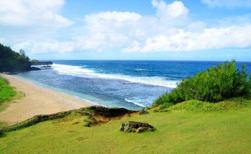 Άποψη του Ινδικού ωκεανού στην παραλία Gris Gris, Μαυρίκιος στοκ εικόνες