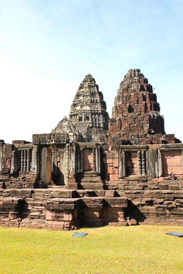 Άποψη του ιστορικού Prasat Hin Phimai Castle στοκ εικόνες με δικαίωμα ελεύθερης χρήσης